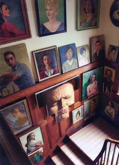 Portrait Gallery Wall     Primitive Modernism Blog, view more amazing images: www.primitivemodernism.com/blog/about-face