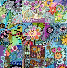 Funky Flower Wall Art