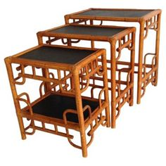Check out this item at One Kings Lane! Chinese Chippendale Nesting Tables, S/3
