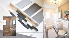 Use sleek grey walls to maximize natural light in your bathroom sunshine with these tips from @mrslimestone via MyColortopia.com