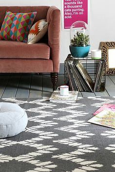 Magical Thinking Chevron Rug in Grey 5x7 $89 | Urban Outfitters