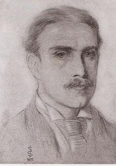 Walter Pater (Simeon Solomon; pencil on paper, 1873)