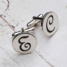 personalised silver initial cufflinks by indivijewels   notonthehighstreet.com