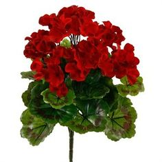 Artificial Geranium Plant and artificial flowering plants at Evergreen