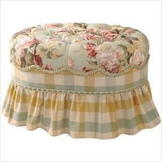 French Country Ottoman