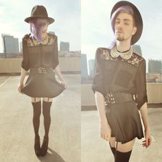 FASHION, STYLE, GENDER BENDER, GENDER QUEER, GENDER FLUID, SPIKES, HEELS, LACE, FOREVER 21