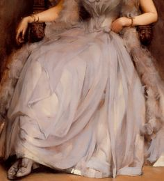 Portrait of Cecilia Tower (detail), c. 1889, by James Jebusa Shannon (Anglo-American, 1862-1923).