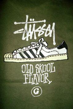 vintage stussy   Vintage Stussy 1980s Classic Design Old Skool Flavor T-shirt Original ...