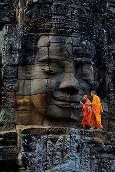 Bayon Temple, Ancient City of Angkor Thom, Cambodi. - Bayon Temple, Ancient City of Angkor Thom, Cambodi… – - Buddhist Temple, Buddhist Art, Ancient Aliens, Angkor Wat Cambodia, Little Buddha, Buddha Zen, Buddha Buddhism, Buddha Peace, Buddha Meditation