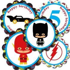 Super hero cupcake toppers by sadie