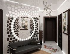 How to make unique art wall panels on the wall by your own hands, and what the best materials to make it, wall panels for stylish wall decor in your interior, wall art panel, and scenery 3d Interior Design, Interior Walls, Ceiling Design, Wall Design, Partition Design, Hallway Decorating, Home Wall Decor, Decoration, 3d Wall