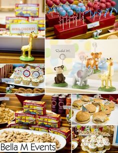 CIRCUS BABY SHOWER THEME FOOD IDEAS FOR AT HOME. Bella M Events is ...