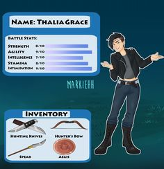 Now presenting Annabeth's video game character sheet! 💖 Designing her official outfit was so fun, I'm trying to make everyone fashionable…>>> i love her except her hair makes her look a lol like a guy so maybe if she has spiky shoulder length hair? Arte Percy Jackson, Percy Jackson Memes, Percy Jackson Books, Percy Jackson Fandom, Percy Jackson Thalia, Percabeth, Solangelo, Leo Valdez, Magnus Chase