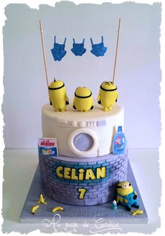 The minion's overalls need a washing!