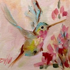 Hummingbird No. 12, original painting by artist Delilah Smith | DailyPainters.com
