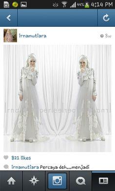 Irna la perle #muslim #weddingdress #madeinIndonesia