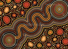 Connection concept -You can find Aboriginal art and more on our website. Aboriginal Tattoo, Aboriginal Art Symbols, Aboriginal Patterns, Aboriginal Dot Painting, Aboriginal Culture, Dot Art Painting, Painting Wallpaper, Encaustic Painting, Aboriginal Art Australian