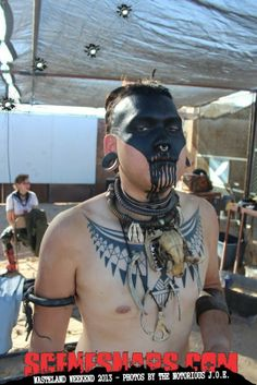 Black tribal makeup