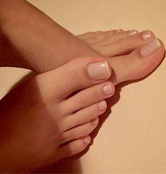 Milf black + white toenails show