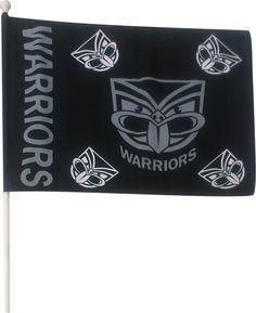 2014 Vodafone Warriors Supporter Mini Flag #WarriorsGear #WarriorsForever #NRL #Flag Go to www.warriorsstore.co.nz