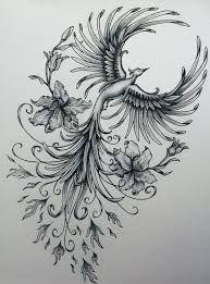Phoenix original art example of jennifermckayhiggins - Tatoo. Rising Phoenix Tattoo, Phoenix Bird Tattoos, Phoenix Tattoo Design, Phoenix Tattoo Feminine, Feminine Thigh Tattoos, Phoenix Tattoo For Men, Tribal Phoenix Tattoo, Tattoo Ave Fenix, Fenix Tattoos