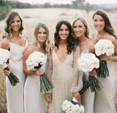 The perfect mix and match bridesmaid dresses featured on LOVE FIND CO. The perfect mix and match bridesmaid dresses featured on LOVE FIND CO. Mix Match Bridesmaids, Brides And Bridesmaids, Dream Wedding, Wedding Day, Wedding Wishes, Fantasy Wedding, Wedding Things, Perfect Wedding, Vera Wang Wedding