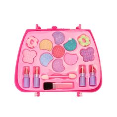 sugeryy Princess Makeup Set Kids Toy Cosmetic Pretend Play Kit Girl Gift with Case - Walmart.com - Walmart.com Mac Makeup Kits, Makeup Kit For Kids, Kids Makeup, Little Girl Toys, Toys For Girls, Kids Toys, Beauty Vanity Case, Makeup Toys, Eyeshadow Brush Set
