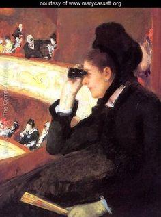 At the Francais, a Sketch (or At the Opera) - Mary Cassatt - www.marycassatt.org