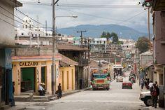Quetzaltenango - Xela, Guatemala // a view down a street                                       #xela #guatemala