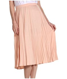 Tibi Relaxed Jersey Pleated Skirt Blush - 6pm.com