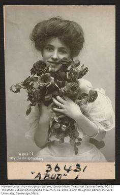 """""""A Bud"""" Evelyn Nesbit by Otto Sarony, 1901."""