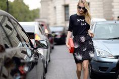 50 of 2014's Best Street Style Moments - Fashion Week Street Style - Elle