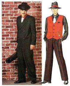 Butterick Pattern 3241 Mens Zoot Suit Gangster Roaring 20s Costumes XS XL | eBay