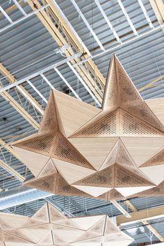Image result for zintra felt ceiling baffle