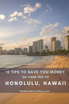 12 TIPS TO TRAVEL HONOLULU ON A BUDGET Welcome to Honolulu, the capital city of Hawaii on the island Oahu. But as you might know, Hawaii itself is one of the most expensive places in the USA. But if you're on a backpacker's budget, don't let the high price tag completely deter you from visiting! Here's how to do Honolulu on a budget. #hawaii #honoluluonabudget #honoluluforcheap #budgettravelhonolulu Hawaii Vacation, Hawaii Travel, Solo Travel, Travel Usa, Top Travel Destinations, Travel Tips, Travel Essentials, Budget Travel, Travel Around The World
