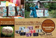 November is here and so are Medium Utility Totes!