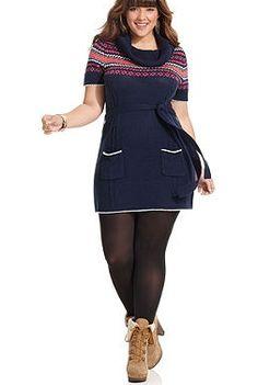 "Winter fair isle sweater, curves,    ""if you like my curvy girl's fall/winter closet, make sure to check out my curvy girl's spring/summer closet.""   http://pinterest.com/blessedmommyd/curvy-girls-springsummer-closet/pins/"