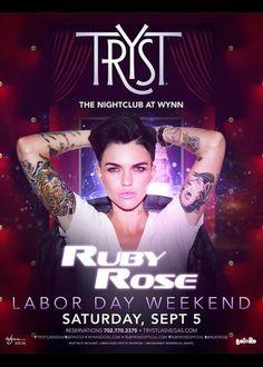 Ruby Rose at Tryst Nightclub
