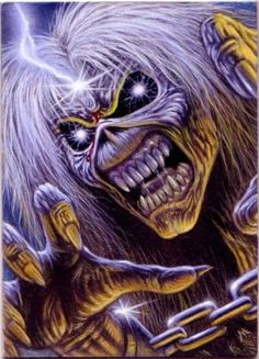 ACEO Iron Maiden Card 3 by taplegion. Hard Rock, Arte Pink Floyd, Iron Maiden Mascot, Iron Maiden Albums, Iron Maiden Posters, Eddie The Head, Rock And Roll Bands, Heavy Metal Bands, Metal Artwork