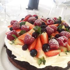 Vanilje, Fruit Salad, Foodies, Almond, Cheesecake, Food And Drink, Fester, Sweets, Cakes