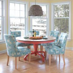 Della Pedestal Dining Table - Oak Top