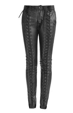 d050e1921d latest fashion strap leather punk pants for women Trousers Women, Leather  Trousers, Pants For