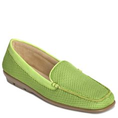 Aerosoles Women's Shoes - Web Browser in Bright Green Fabric