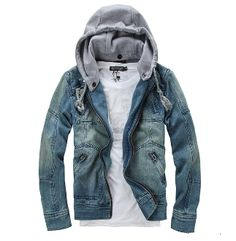 Mens Jean Jacket With Hood FiHaSp