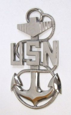 """Handcrafted Model Ships AL48886 Chrome United States Navy Anchor 18"""""""