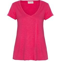 AMERICAN VINTAGE Jacksonville V-neck T-shirt ($56) ❤ liked on Polyvore