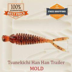 Tsunekichi Han Han Trailer Worm Bait Mold Fishing Soft Plastic Lure 61-75 mm