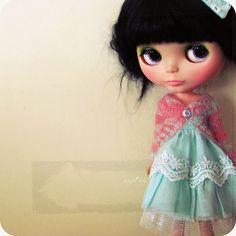 Kenner brunette Blythe doll.