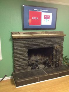 65 Best Tv Mounted Above Mantle Images Living Room Fire
