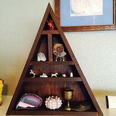 Handmade Triangular Shelving- Mantle Shelf